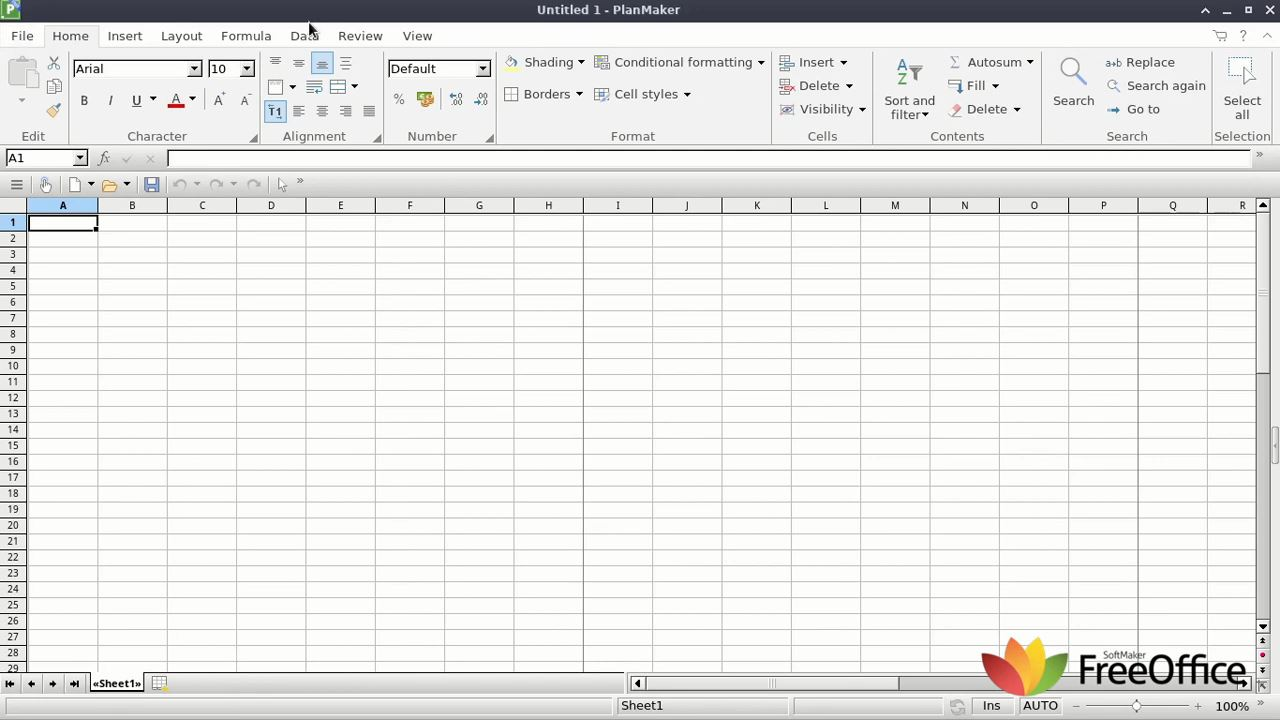 FreeOffice PlanMaker