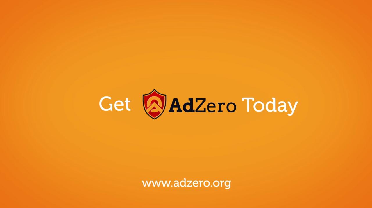 AdZero Adblocker