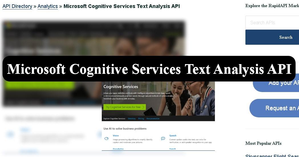 Microsoft's Cognitive Services Suite