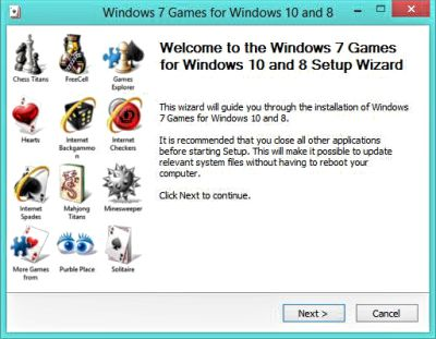 Image of Windows 7 Games Installation